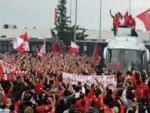 Фанаты «Олимпиакоса» с овациями встречали победителей Евролиги