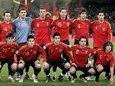Состав чемпионский сборной испании по футболу